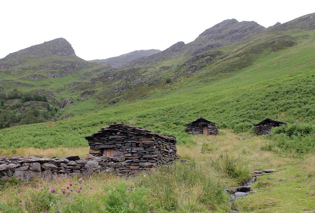 Cabanes de la Lit avec les ânes